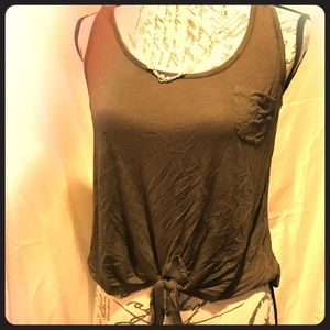 REBELLIOUS 1 TIED TANK olive colored